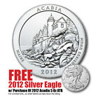 2012 5 oz Silver America The Beautiful Acadia Bullion Issue