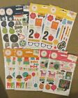8 Packs Simple Stories Snap 4x6 Sticker Sheets Icons  Alphabets HUGE LOT