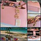 Michael Kors 100  Grapefruit Pink  CYNTHIA NWT Saffiano Leather Satchel Bag