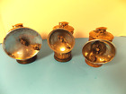 THREE GUYS DROPPER VINTAGE CARBIDE MINERS LAMPS BRASS ALL ORIGINAL