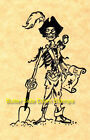 Undead Pirate Skeleton Captain Rubber Stamp