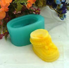 Baby Shoe 3D Soap Mould Flexible Silicone Cookie Mold Chocolate Mould R0176
