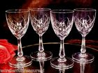 4 - 4 oz Vintage Crystal CUT GLASS Footed Cordial or Small Wine Glasses LOVELY!