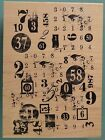 Number Collage Background PAPER ARTSY DESIGN Inkadinkado Rubber Stamp