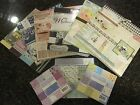 Huge LOT of card stock craft paper scrapbook patterns most 12x12 + 2 shadowboxs