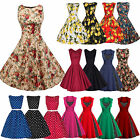Womens 50s 60s Rockabilly Swing Dress Vintage Evening Cocktail Party Dresses