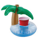 6 Floating Coconut Palm Tree Drink Holders Cans Cups Bottles Pool Float Party