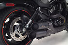 H D V Rod Black Dual Shorty Turn out Slip on Exhaust 111 2042