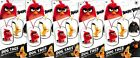 2016 Angry Birds Movie Collectible Dog Tag Necklace Sticker Surprise 5 Packs
