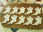 pRiMiTiVe Wool Felt Die Cut Shapes Penny Rug Applique 10 Lg White Ghosts
