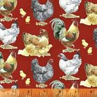 The Hen House All Over Hens Cotton Fabric by Windham Fabrics