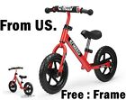 kid bike boy girl ride on racing scooter Balance Red Walking Bicycle Ages 2-6 US