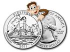 2011 5 oz Silver America The Beautiful Vicksburg Bullion Issue