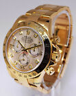 Rolex Daytona 18k Gold MOP Diamond Dial Mens Watch Box/Papers 116528