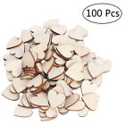 100pcs Wooden Love Heart Shapes Craft Shapes Large  Small Wood Embellishments