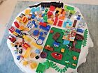 HUGE lot of toddler Lego Pirate Fire station Trucks People moving parts