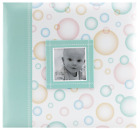 MBI by MCS Baby Scrapbook Album 12 by 12 Inch Green Bubbles