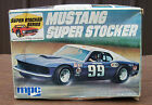 RARE vtg DICK TRICKLE MPC MUSTANG SUPER STOCKER MODEL KIT A&W Ford w INSTRUCTION