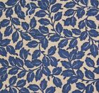Blue Raymond Waites Vines Drapery Upholstery Fabric - 56