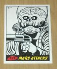 2012 Topps Heritage MARS ATTACKS sketch card Rich Molinelli 1 1