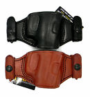 TAGUA QUICK DRAW OWB SNAP ON BELT HOLSTER Brown Black Leather Pick Gun