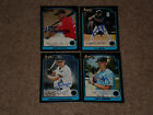LOT OF (4) DIFF 2003 BOWMAN ROOKIES & DRAFT PICKS SIGNED AUTOGRAPHED CARDS