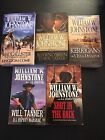 WILLIAM JOHNSTONE Lot Of 5 Paperback Western Books