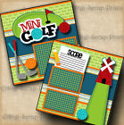 MINI GOLF family 2 premade scrapbook pages paper piecing layout BY DIGISCRAP