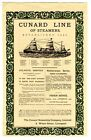 1890's Cunard Line of Steamers  & Union Steamship Company Ad