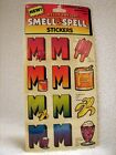 Sealed Vintage MELLO SMELLOS Smell  Spell Stickers Letter M