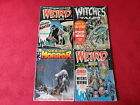 Lot of 4 Vintage Horror Comic Magazines Web of Horror Weird x2 Witches Tales