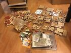 Pre owned Huge Lot Rubber Stamp Collectible 250 + Stamps Art Crafting Scrap Book