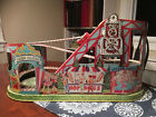 Vintage J Chein Wind Up Tin Toy Roller Coaster Works Welll Great Shape