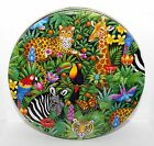 Stephanie Stouffer 1995 JUNGLE ANIMALS WILDLIFE Tin #2 Box Container  6.5