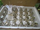 New box of 2 Dozen 24 Silver Wedding Bells Favors with Cards