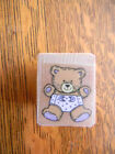 Baby BEAR With Diaper Rubber Stamp NEW