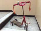 Vintage Radio Flyer Retro Style Red Wood Deck Kid Twist Trike Scooter Model #510