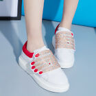Womens Fashion Casual Mixed Color Sequins Slip On Sneaker Outdoor Trainer Shoes