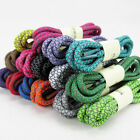 Round Reflective Shoe Laces 3M Sneakers Shoelaces Athletic Sports Rope Laces 160