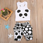 2pcs Newborn Toddler Baby Girls Clothes T shirt Tops+Pants Shorts Outfits Set US