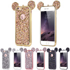 Cute Bling Glitter Mickey Mouse Silicone Back Case Cover For iPhone 6S 7 7Plus