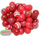 Assorted Styles 20mm Red Acrylic Chunky Bubblegum Beads 52 pc