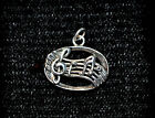 MELODIC Silver Tone Musical Notes Pendant or Charm Great for any Musician