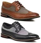 Men Dress Shoes WingTip Oxford Leather Lined Lace Up Black Brown Titan 1