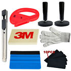 Car Wrap Vinyl Tools Kit 3M Felt Squeegee Razor Cutter Gloves 2 Magnets Knife