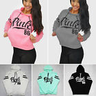 Plus Size Womens Long Sleeve Hooded Sweatshirt Pullover Tops Blouse Jumper Coats