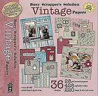 HOTP Busy Scrappers Solution VINTAGE 12 x 12 Papers Scrapbooking Heritage 12x12
