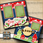 CHRISTMAS 2 premade scrapbook pages paper layout SANTA REINDEER BY DIGISCRAP