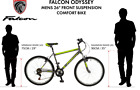 26 Odyssey Front Suspension BIKE Mountain Bicycle FALCON Mens in GREEN