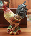 FITZ AND FLOYD COUNTRY GOURMET HUGE ROOSTER CENTER PIECE RARE 18x14x7 BRAND NEW